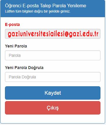 Gazi Üniversitesi E-Postası