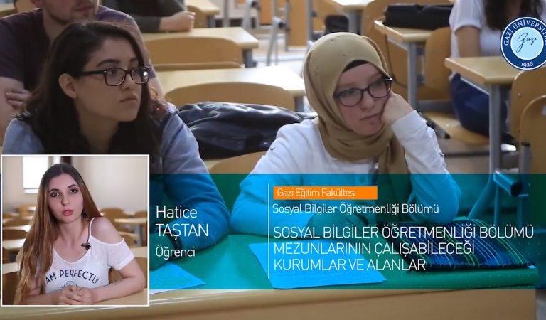 Gazi Üniversitesi Sosyal Bilgiler Öğretmenliği Bölümü Tanıtımı